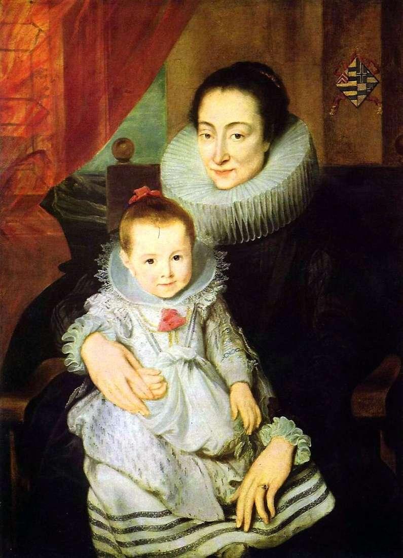 Портрет Марії Кларісси, дружини Яна Вовериуса, з дитиною   Ентоні Ван Дейк