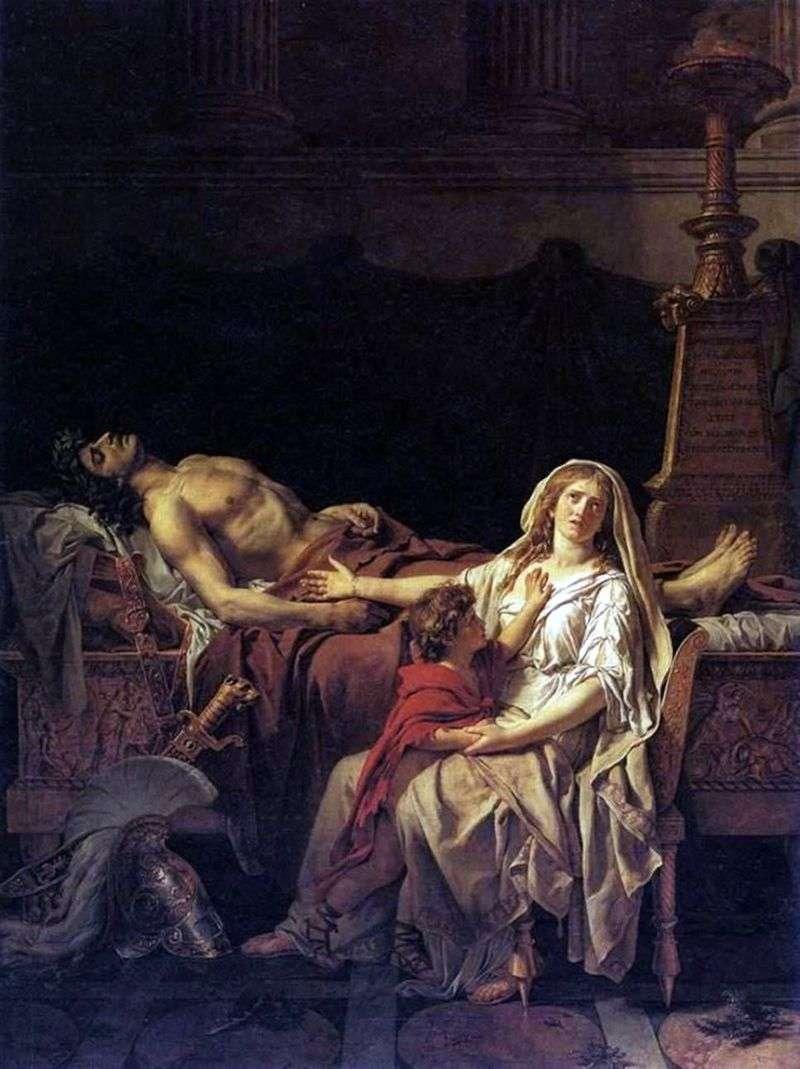 Андромаха у тіла Гектора   Жак Луї Давид
