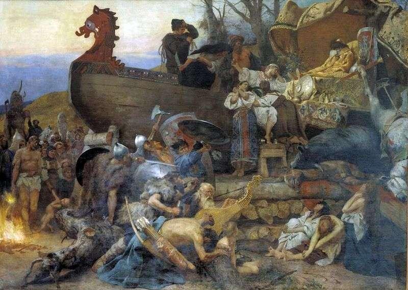 Похорони знатного руса   Генріх Семирадський