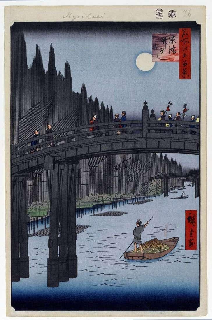 Міст Кебаси і набережна Такэгаси   Утагава Хиросигэ