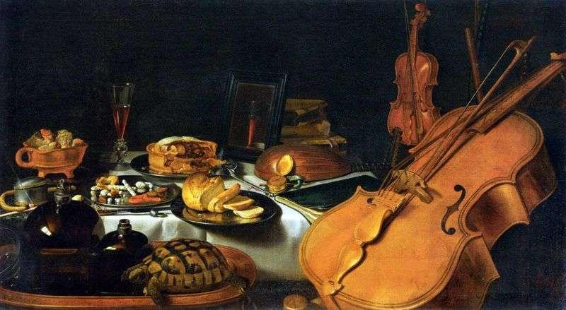Натюрморт з музичними інструментами   Пітер Клас