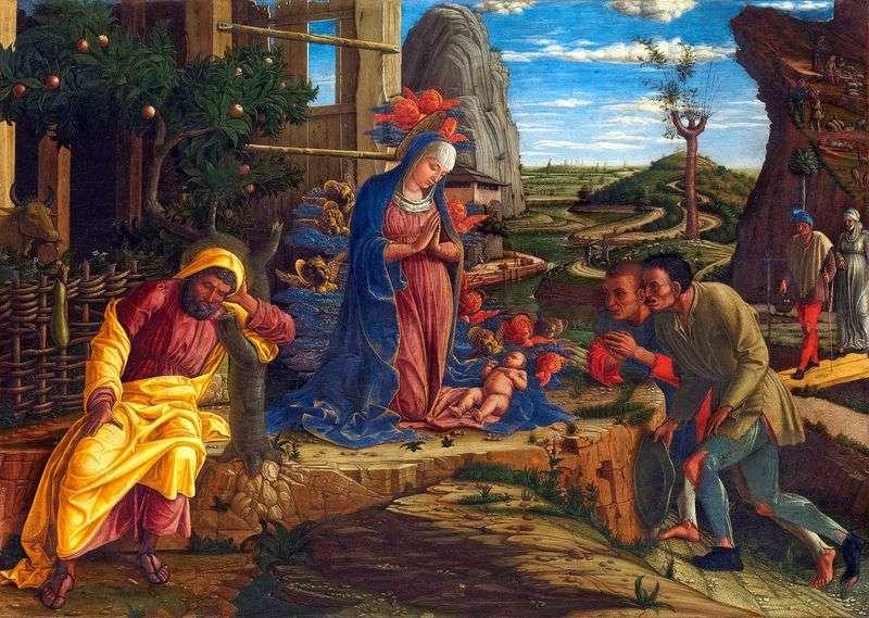 Поклоніння пастухів   Андреа Мантенья