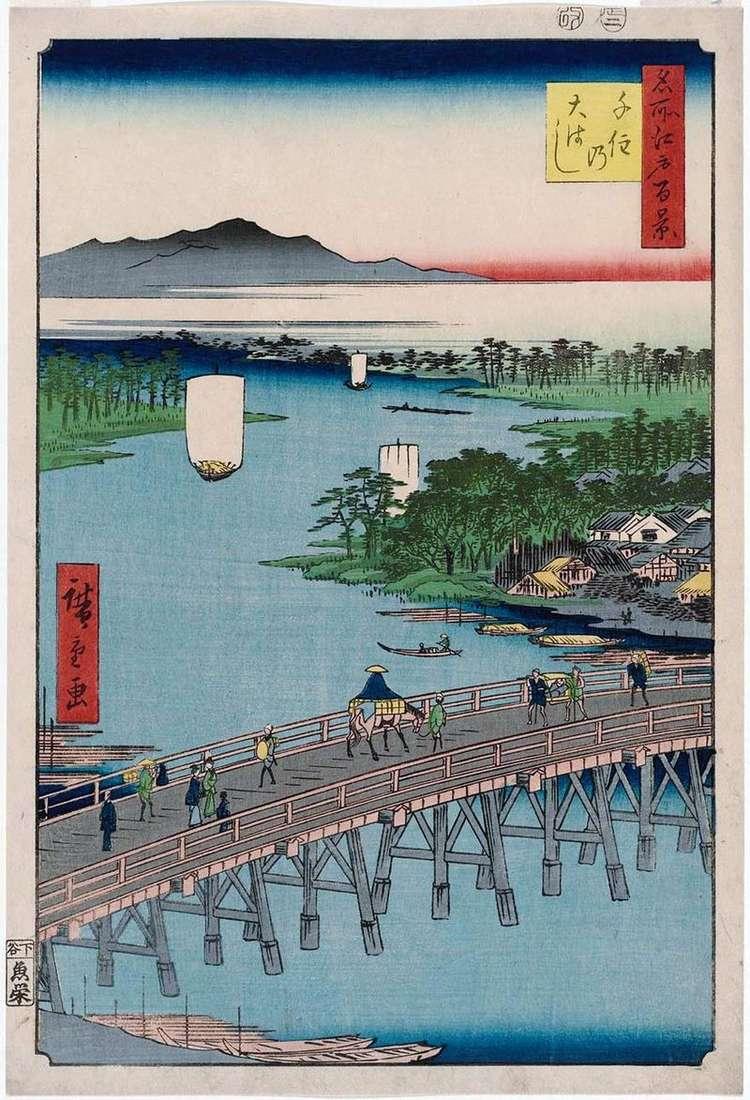 Міст Охасі в Senju   Утагава Хиросигэ