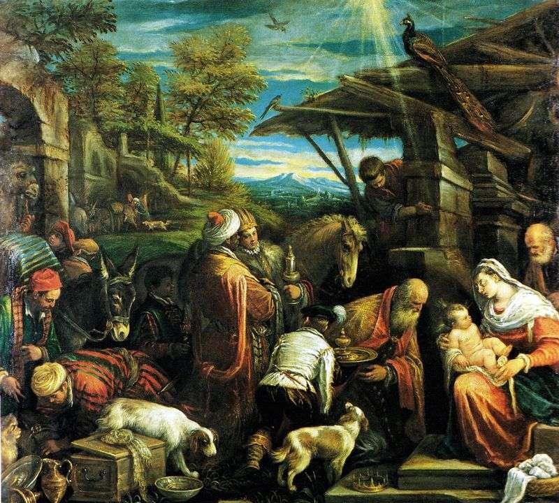 Поклоніння волхвів   Якопо Бассано