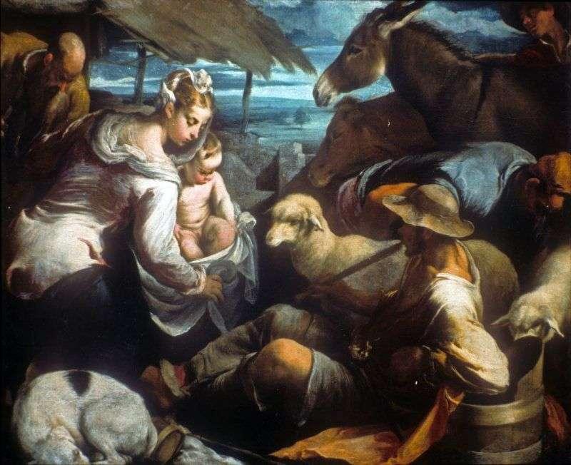Поклоніння пастухів   Якопо Бассано