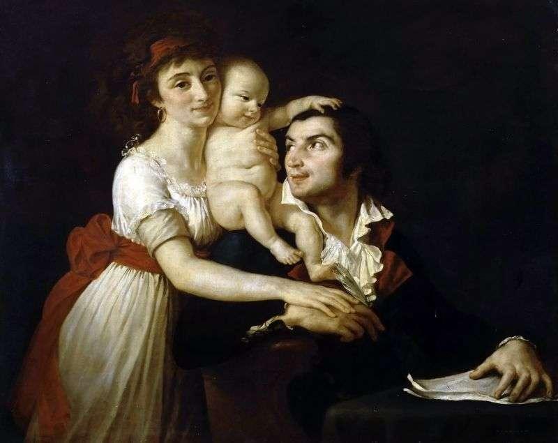 Каміль Демулен з дружиною Люсі і дитиною   Жак Луї Давид