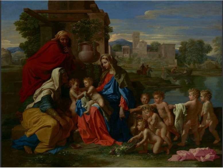 Святе Сімейство з шістьма ангелами   Нікола Пуссен