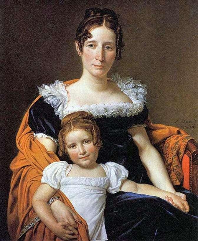 Контесса Вилейн XIIII з дочкою   Жак Луї Давид