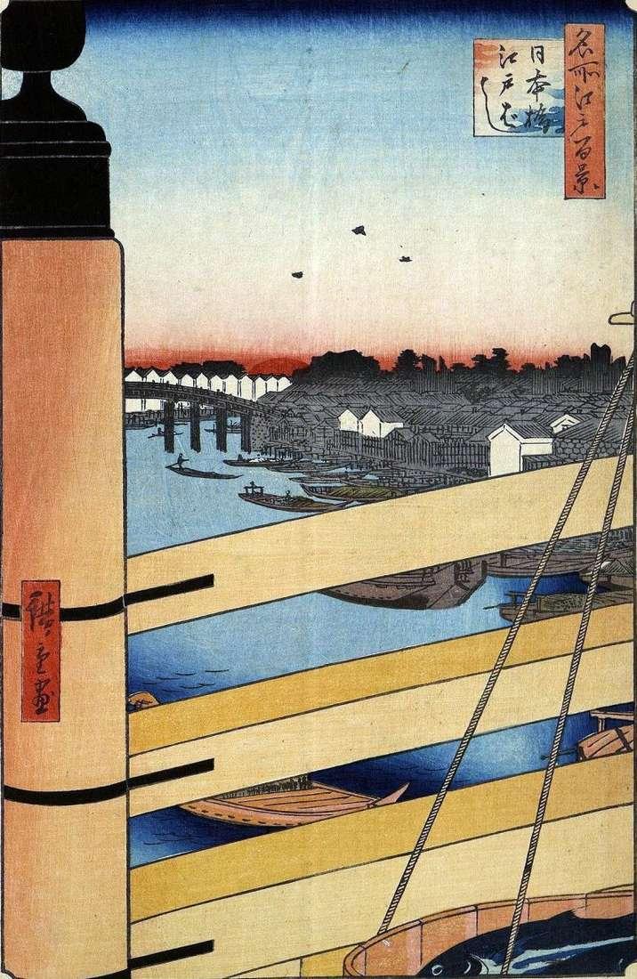 Мости Ніхонбасі і Эдобаси   Утагава Хиросигэ