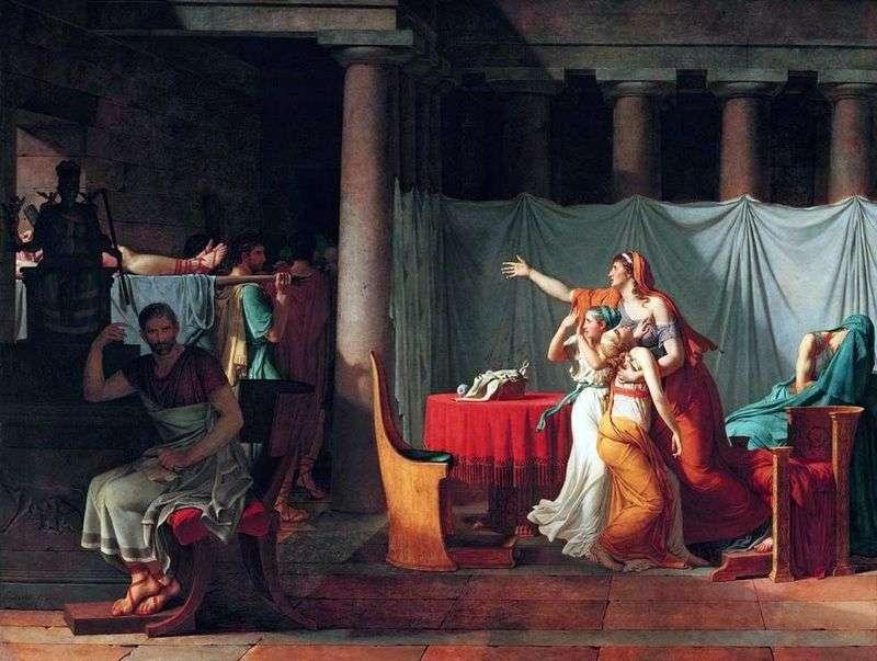 Ліктори приносять Бруту його тіла страчених синів   Жак Луї Давид