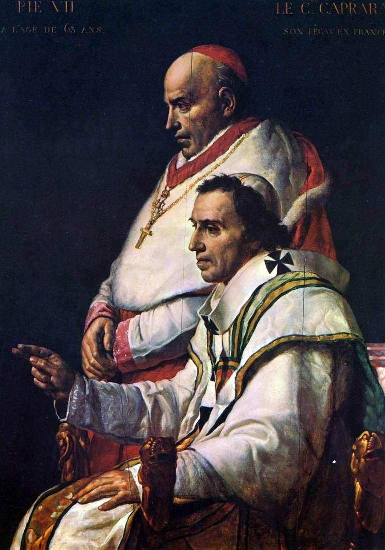 Папа Пій II і кардинал Капрара   Жак Луї Давид