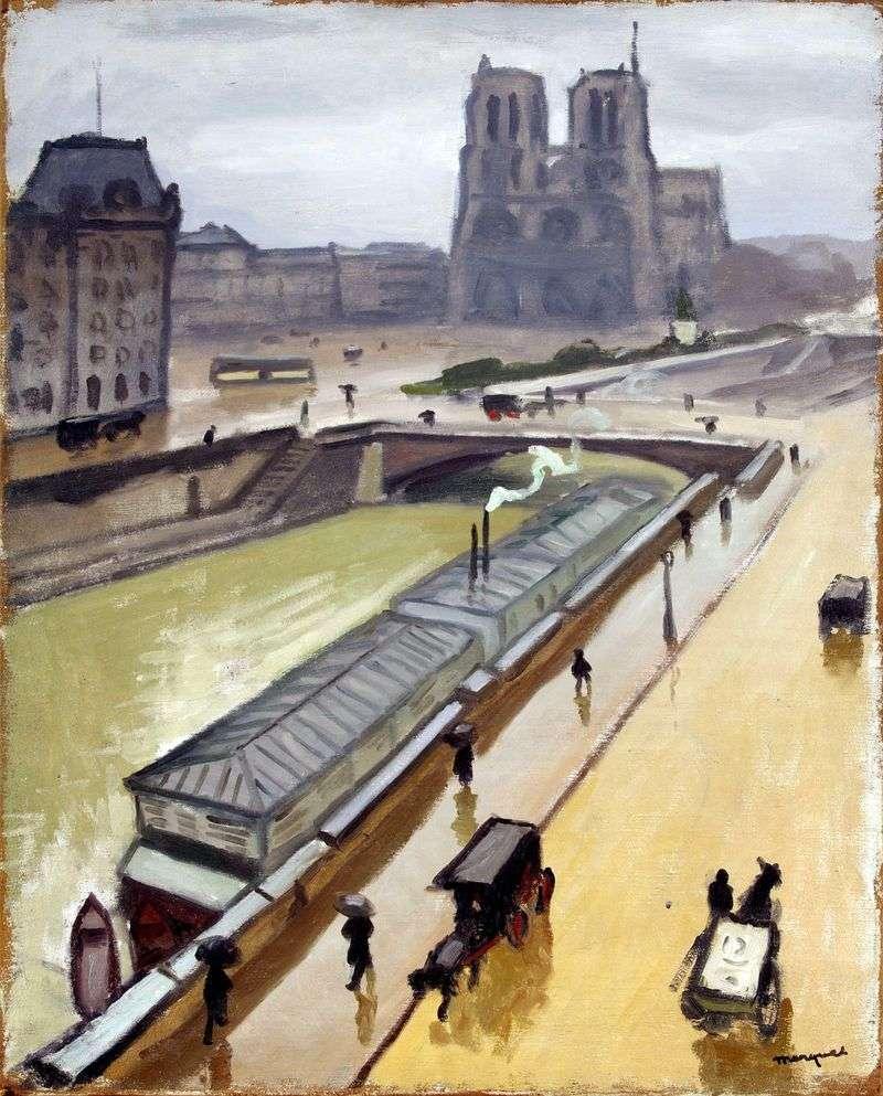 Дощовий день в Парижі. Нотр Дам   Альбер Марці