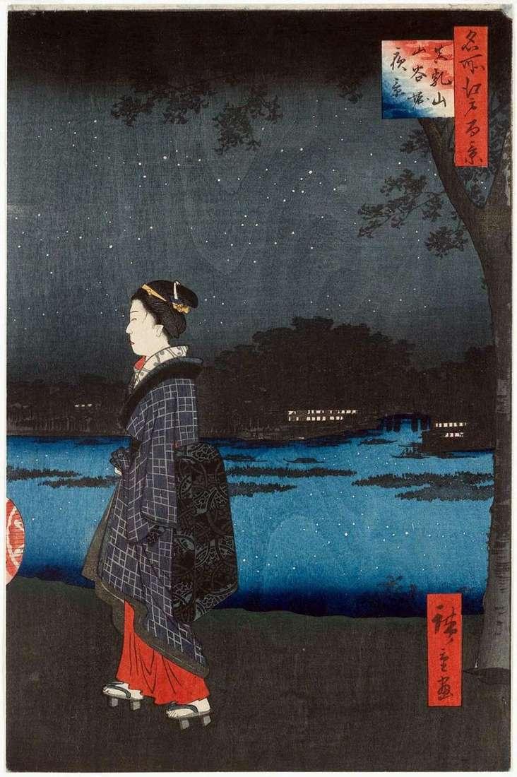 Нічний вид Мацутияма і каналу Санъябори