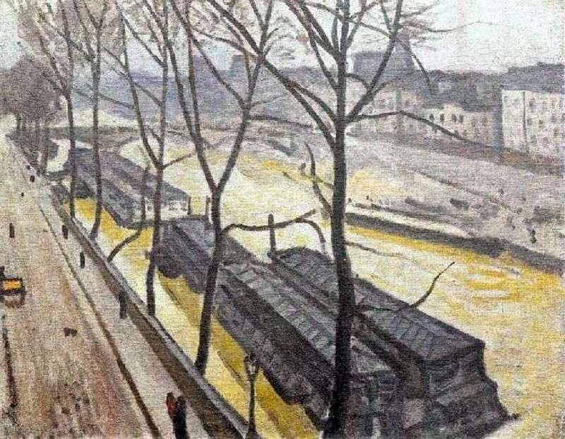 Париж взимку. Набережна Бурбон   Альбер Марці
