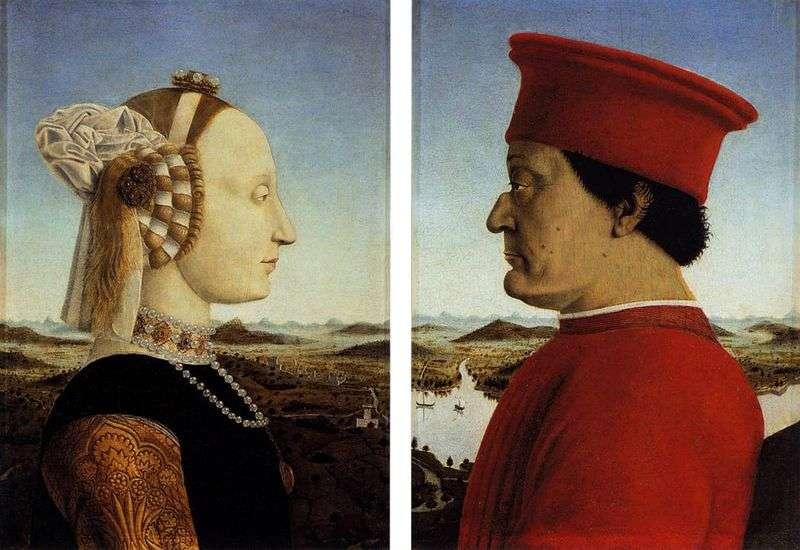 Федеріго да Монтефельтро і його дружина Баттіста Сфорца   Франческа Пєро