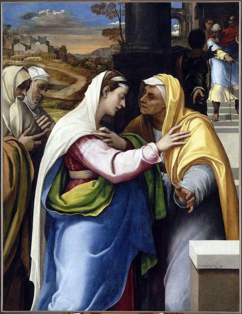 Зустріч Марії та Єлизавети   Себастьяно дель Пьомбо