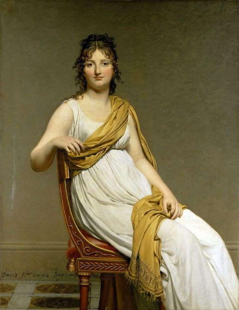 Портрет мадам Генриэтти де Верниньяк   Жак Луї Давид
