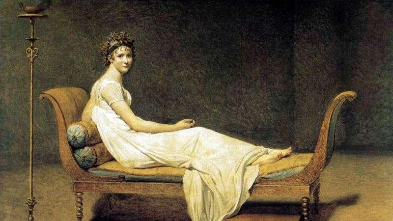Портрет мадам Рекамье   Жак Луї Давид