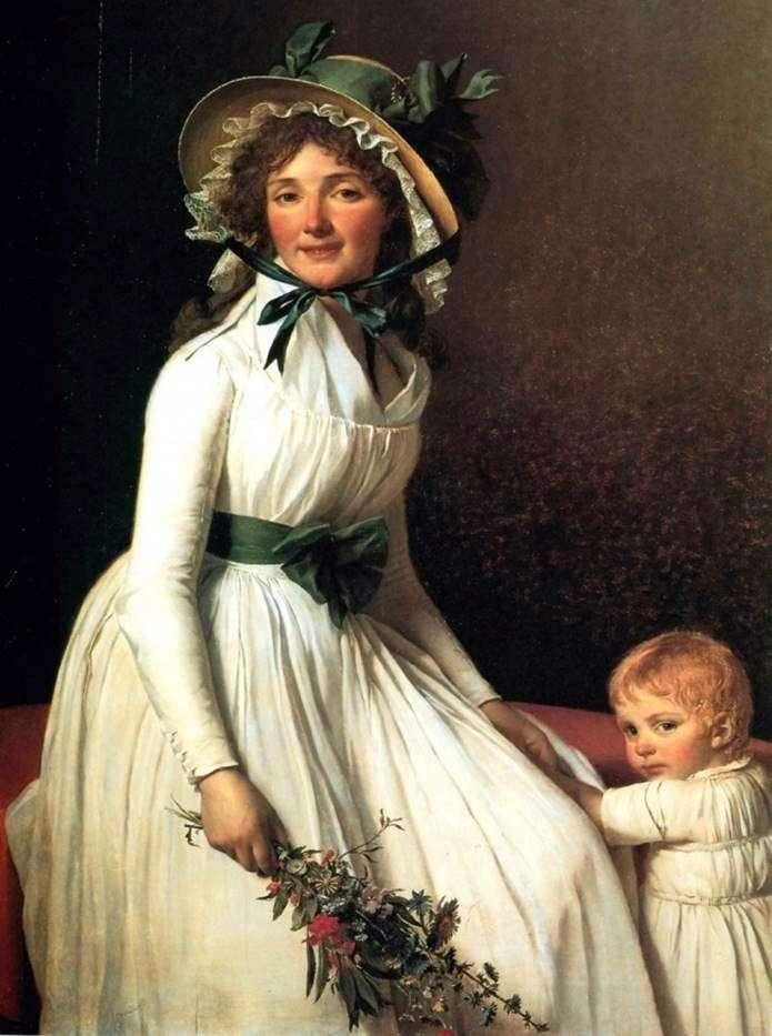 Портрет мадам Емілії Серизиа   Жак Луї Давид