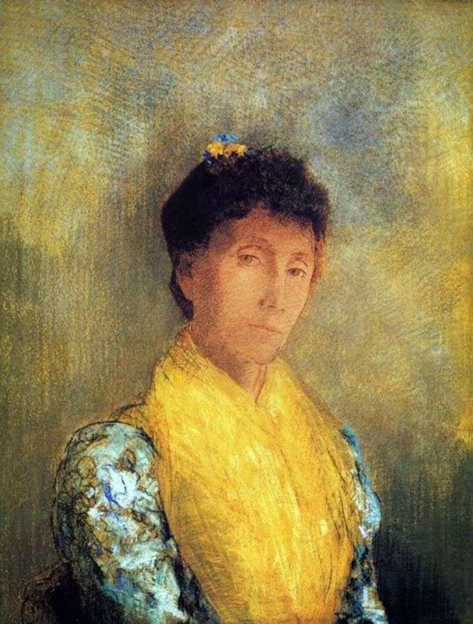 Жінка в жовтій   Одилон Редон
