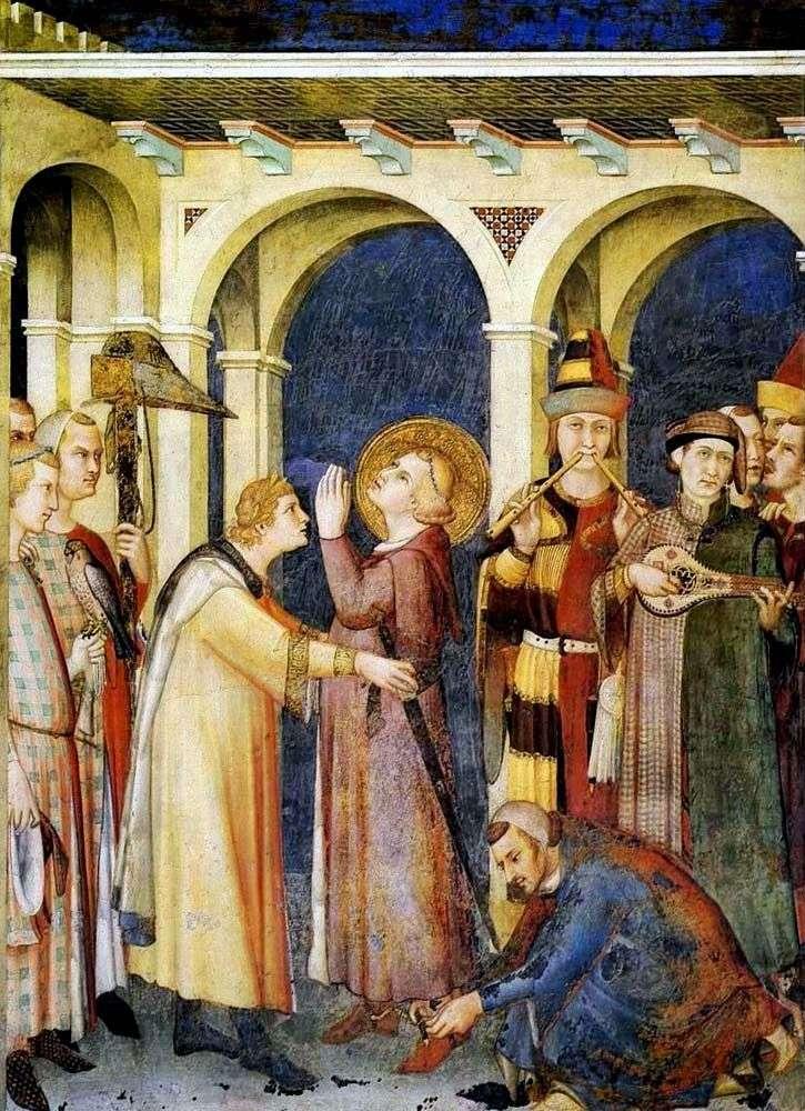 Посвячення в лицарі святого Мартіна   Сімоне Мартіні
