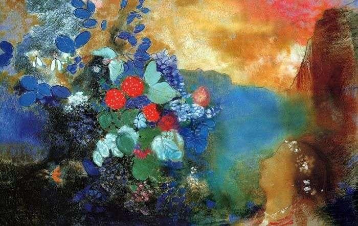 Офелія серед квітів   Одилон Редон