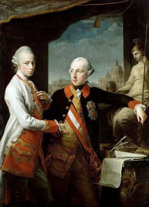 Портрет імператора Йосипа II і Тосканського Леопольда   Помпео Батоні
