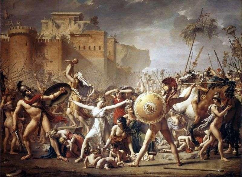 Сабінянки, зупиняють битву   Жак Луї Давид