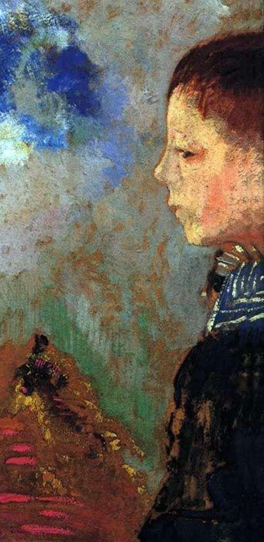 Портрет Арі з синім коміром   Одилон Редон