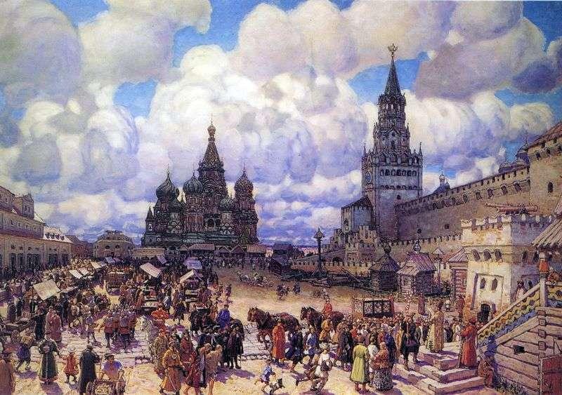Червона площа в другій половині XVII століття   Аполлінарій Васнецов