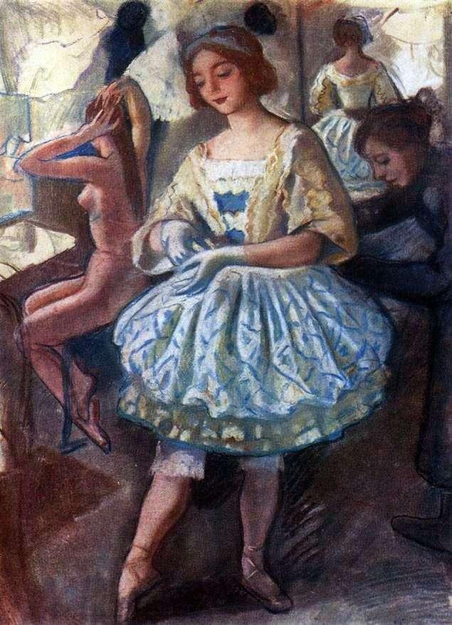 Портрет балерини Е. А. Свекис в костюмі для балету Фея ляльок   Зінаїда Серебрякова