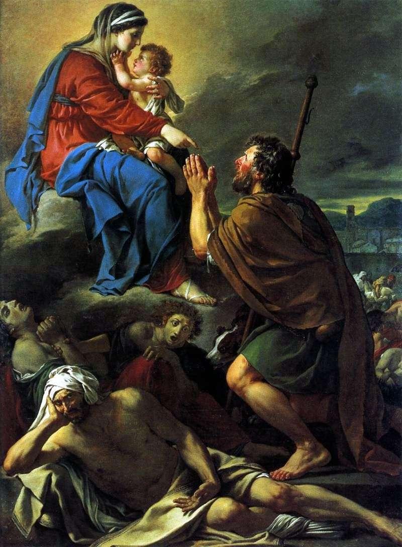 Святий Рох, благаючий Богородицю про зцілення зачумлених   Жак Луї Давид