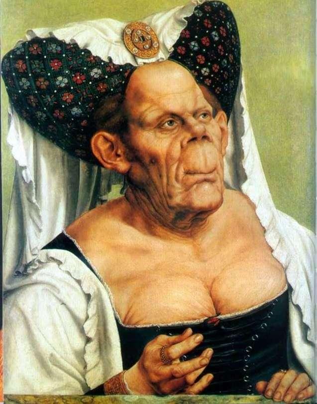 Гротесковий портрет старої (Потворна герцогиня)   Квентін Массейс