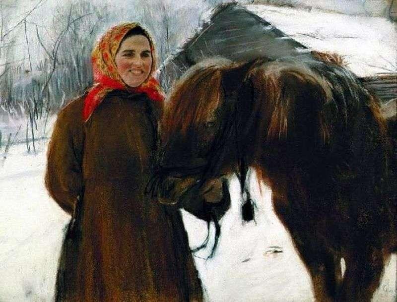 Баба з конем   Валентин Сєров