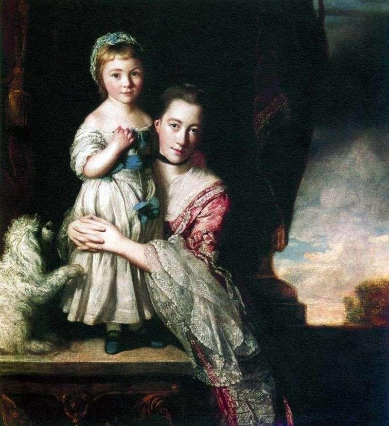 Джорджиана, графиня Спенсер, з дочкою   Джошуа Рейнолдс