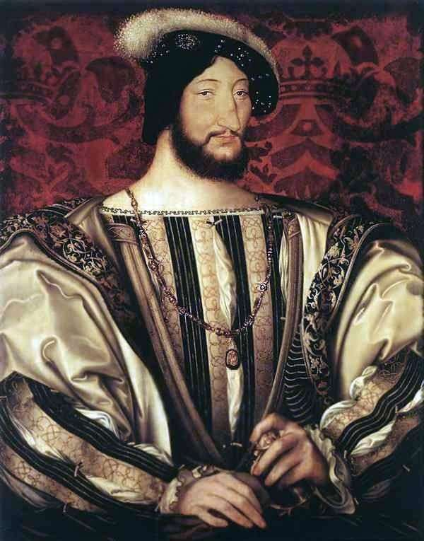 Портрет Франциска I, короля Франції   Жан Клуэ (Clouet, Jean )