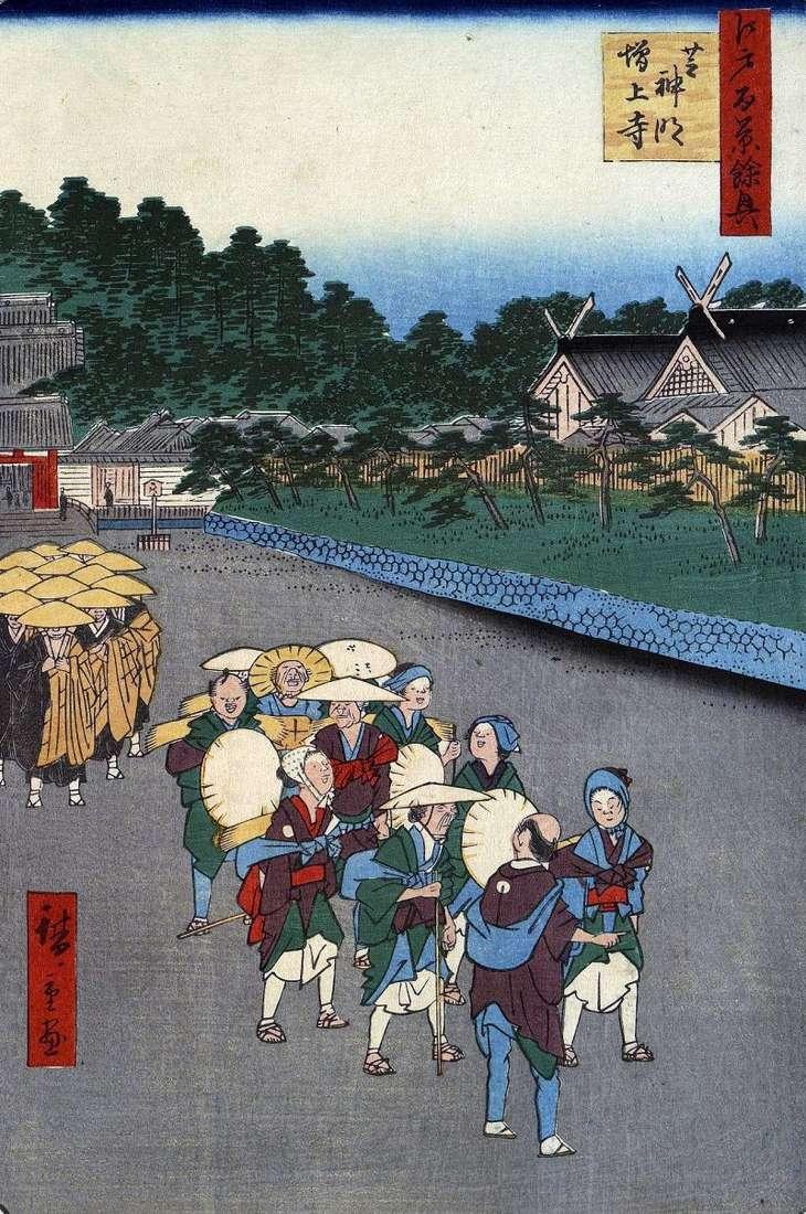 Святилище Сіба Симмэй, монастир Дзодзедзи в Сиб   Утагава Хиросигэ