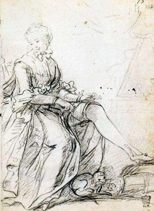 Жінка, яка покращує підвязку   Джошуа Рейнолдс