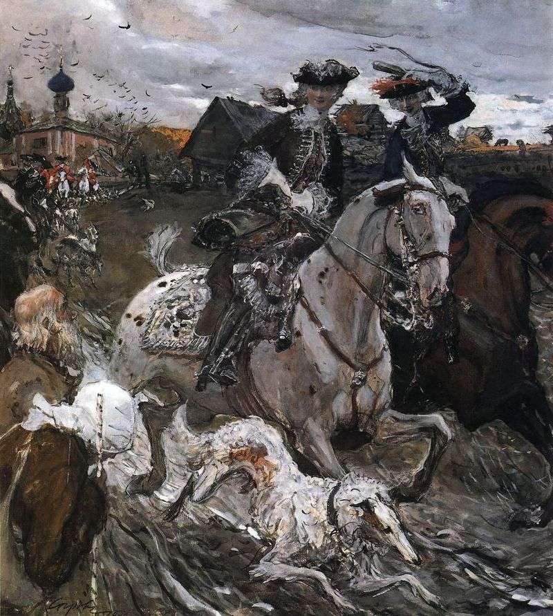 Виїзд імператора Петра II і цесарівна Єлизавети Петрівни на полювання   Валентин Сєров