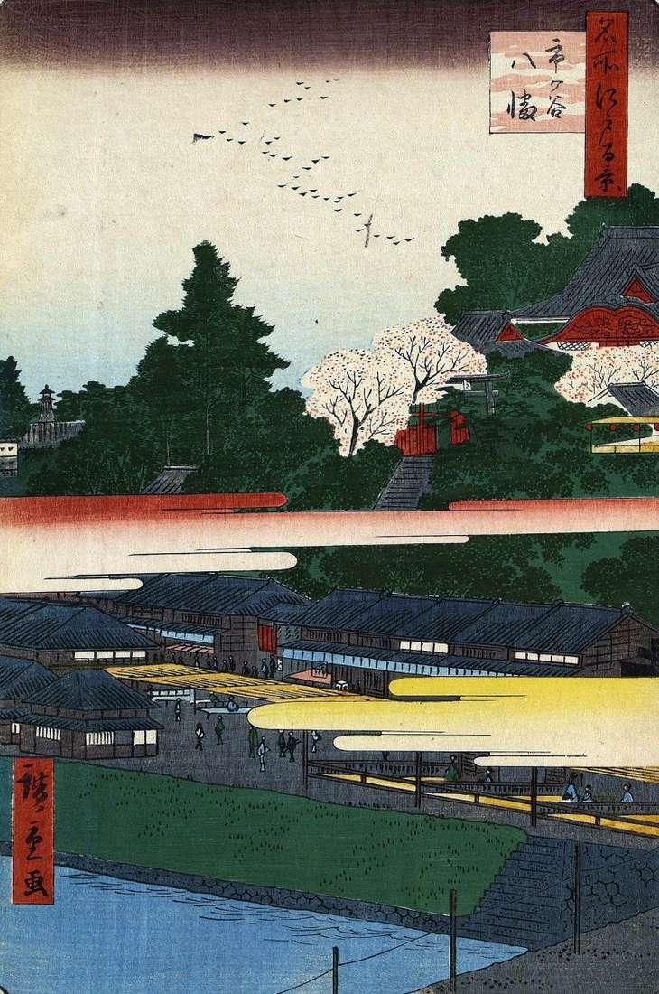 Святилище Хатіман в Итигая   Утагава Хиросигэ