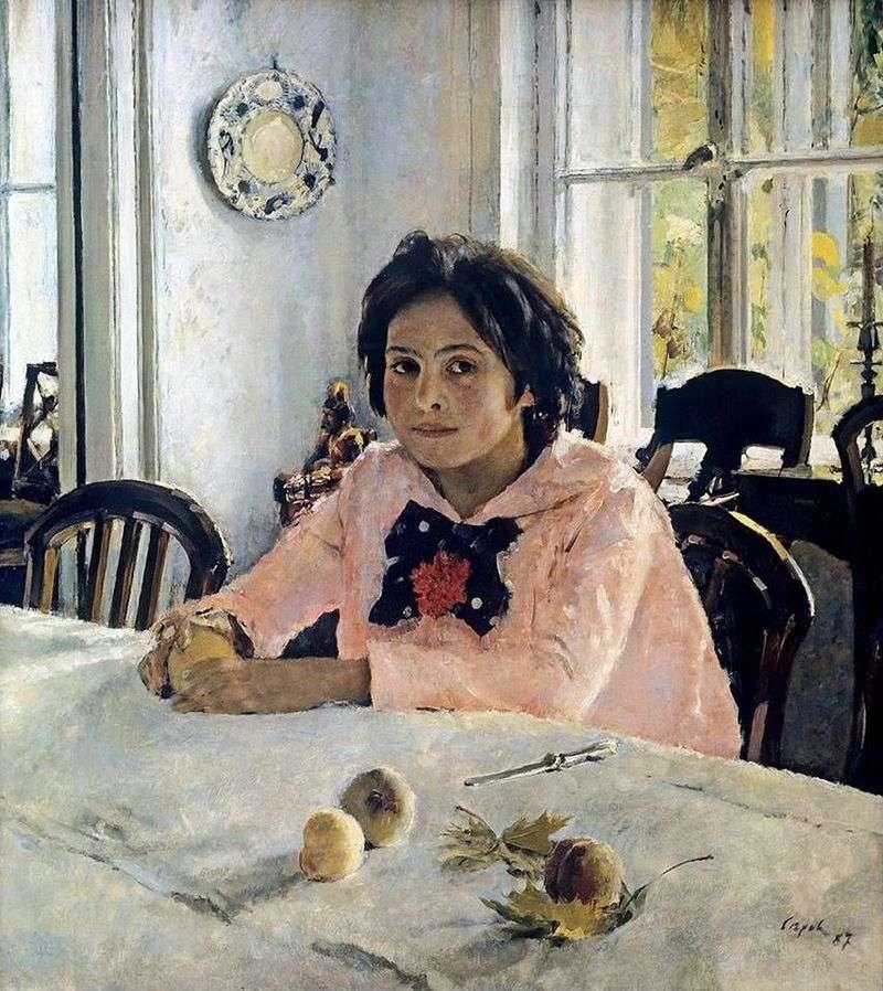 Дівчинка з персиками   Валентин Сєров