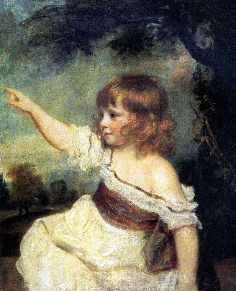 Портрет леді Джонс в дитинстві   Джошуа Рейнолдс