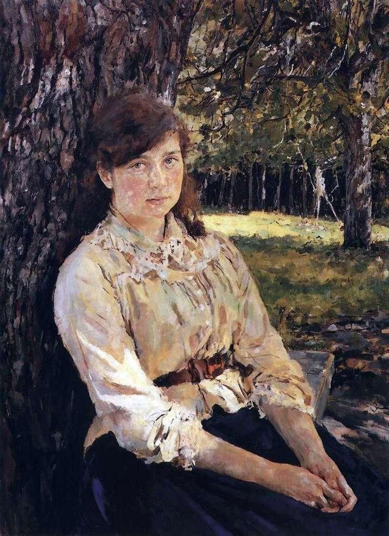 Дівчина, освітлена сонцем (Портрет М. Я. Симонович)   Валентин Сєров