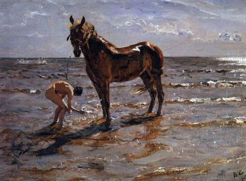 Купання коня   Валентин Сєров