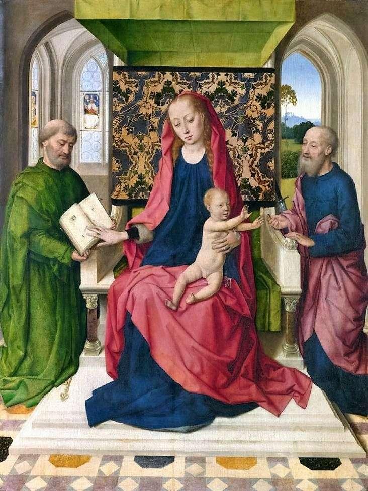 Мадонна з немовлям на троні зі Святими Петром і Павлом   Дірк Баутс