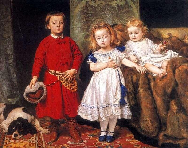 Портрет трьох дітей художника   Ян Матейко Алоізій