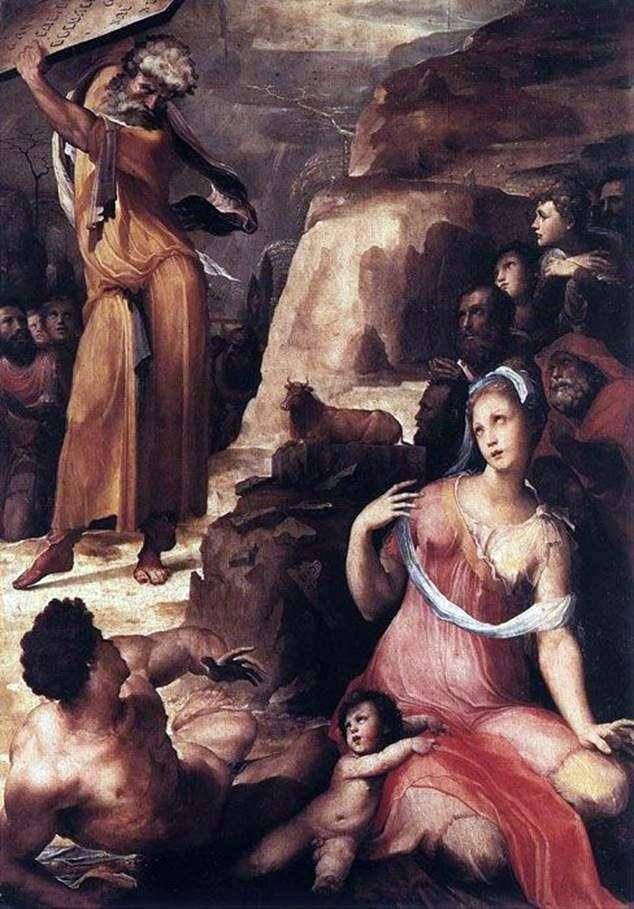 Мойсей і золотий телець   Доменіко Бекафьюми