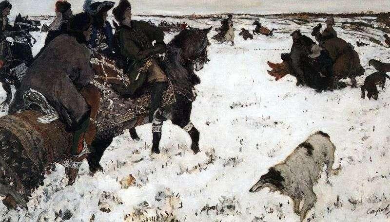 Петро I на псового полювання   Валентин Сєров