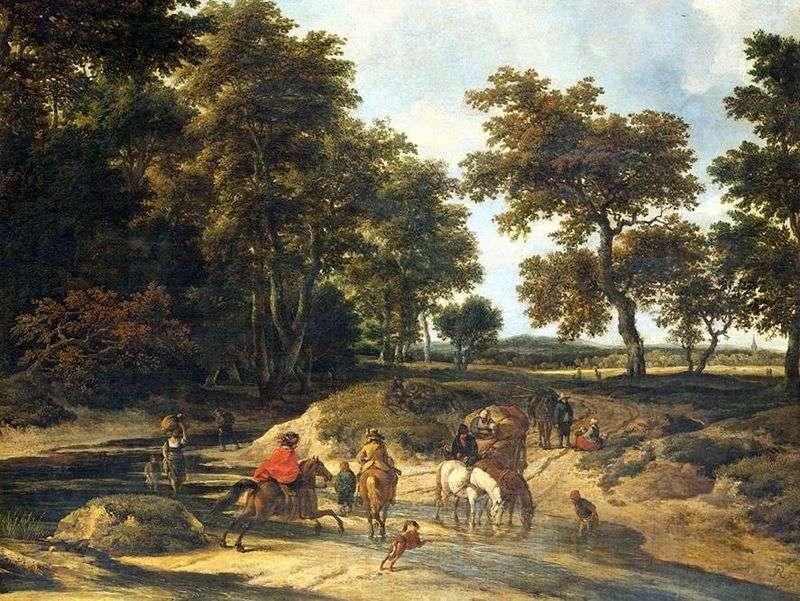 У лісі   Якоб ван Рейсдал