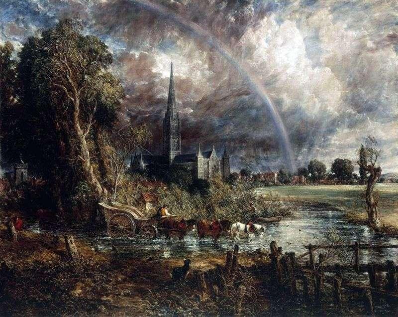 Вид на кафедральний собор у Солсбері з луки   Джон Констебл